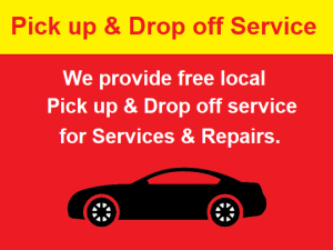 Pick up & Drop off service for MOT, servicing and repair work in Finchley